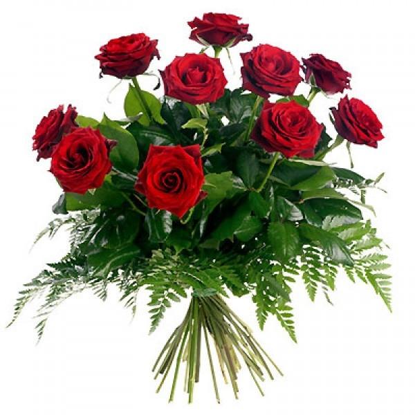 Bukiet 10 róż czerwonych